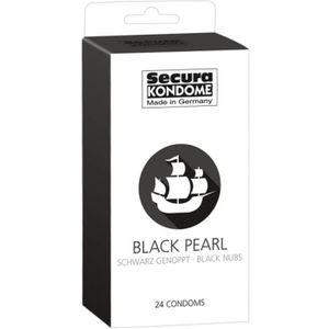 PRÉSERVATIF 24 Préservatifs Noirs Perlés - Black Pearl