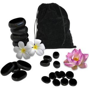 Table de massage Lot de 20 pierres chaudes pour massage en basalte