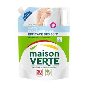 LESSIVE MAISON VERTE Lessive peaux sensibles recharge 30 l
