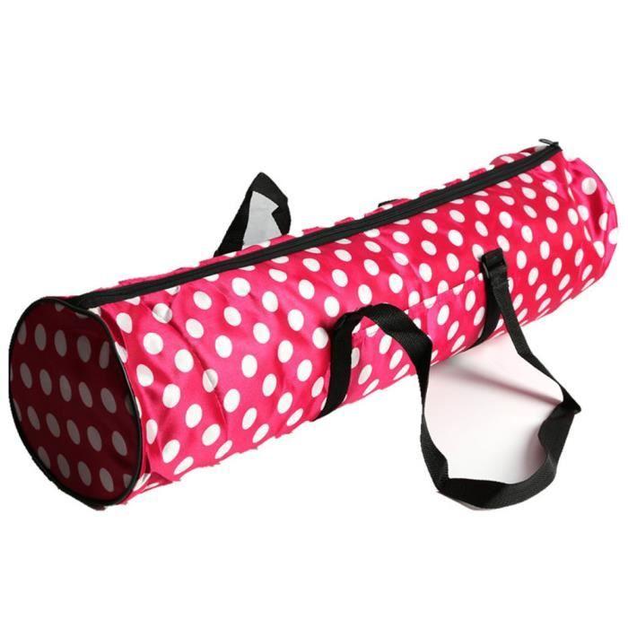 Tapis de yoga sac à dos tapis de yoga à travers épais sac à dos en nylon imperméable sac de yoga rouge LUO90905007RD_hgt