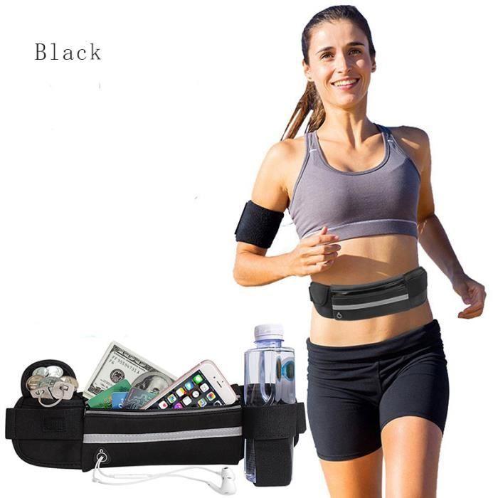 Sports de plein air de l'eau sac de taille pot sac de taille fitness en cours d'exécution sac de taille étanche poche de téléphone p