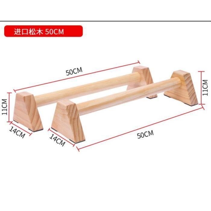 50cm Fitness push-up se dresse en forme de H en bois Handstand barres parallèles Sport gymnastique exerc - Modèle: Or -