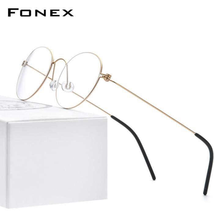 Montures de Lunettes de vue,B Titanium monture de lunettes ultralégères Monture de lunettes pour femmes - Type matter gold