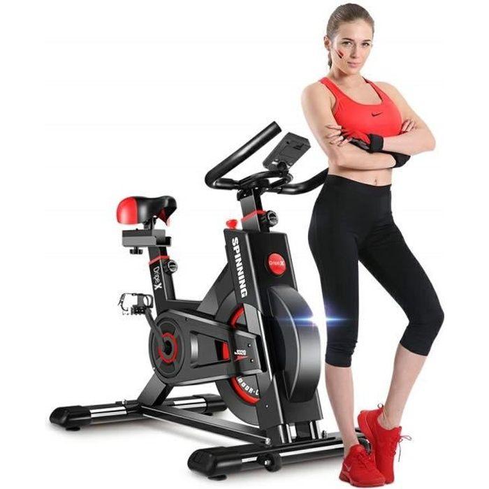 Dripex® Vélo d'Appartement Cardio Vélo Spinning Appareil Fitness Sport Abdominal Dos Bras Avec LCD écran