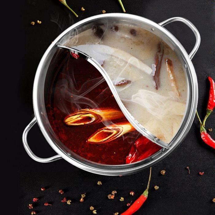 30cm acier inoxydable marmite Induction cuisinière cuisinière à gaz Compatible Pot maison cuisine ustensiles de cuisine soupe