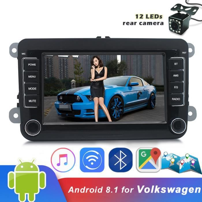 7 `` lecteur MP5 de voiture 2Din pour Volkswagen pour VW Auto Radio enregistreur caméra Android 8.1 GPS Bluetooth Wifi lecteur de fi