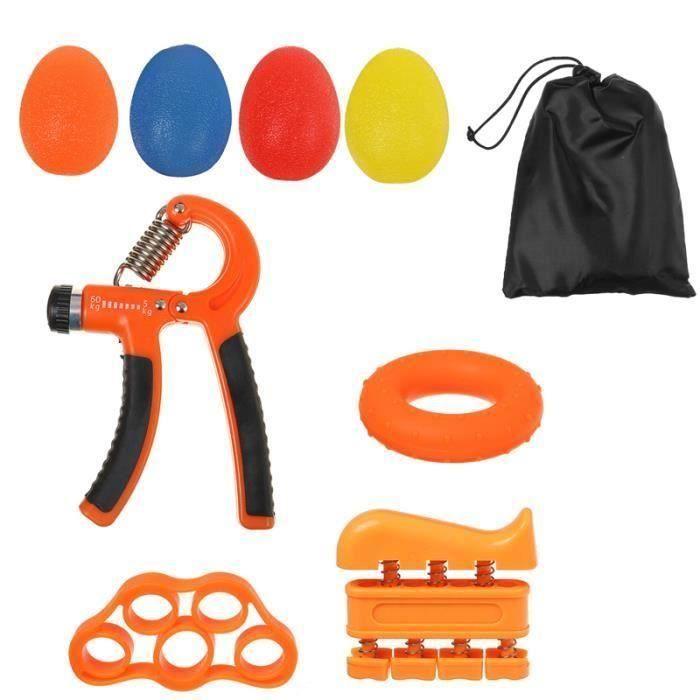 Lot 9pcs 10-60kg Pince de musculation main doigts Orange