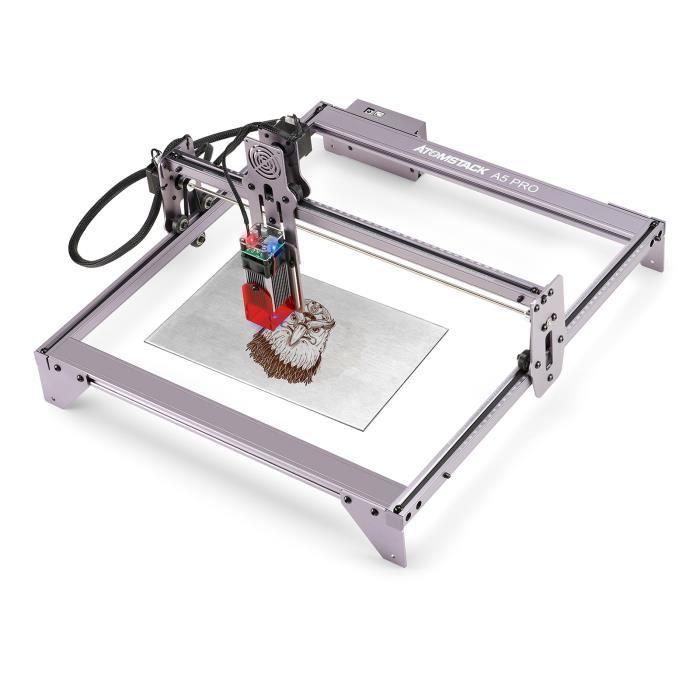 Laser Graveur ATOMSTACK A5 Pro 40W - 410*400mm, Fixe-Focus Laser, Protection des Yeux, pour Bois Plastique Céramique Pierre Cuir