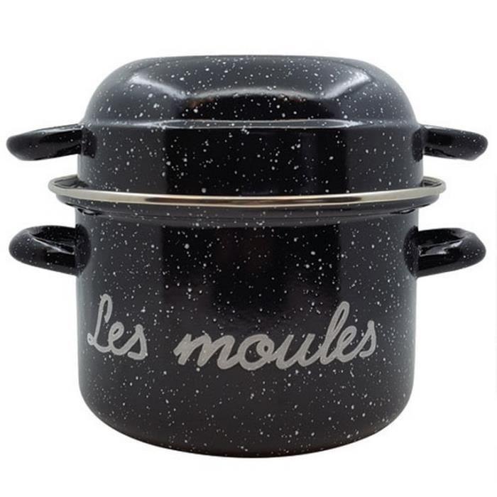 Marmite à moules - D: 24 cm - noir