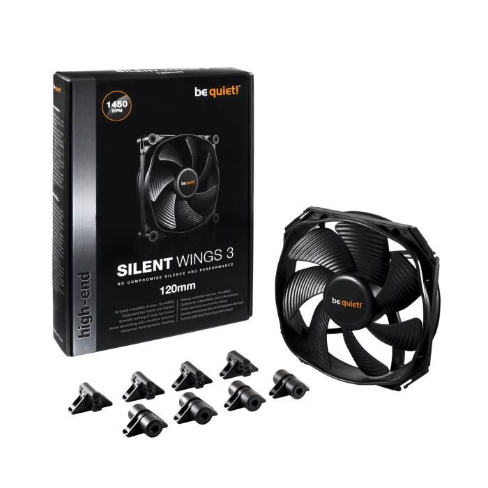 Be Quiet Ventilateur de boîtier SILENT WINGS 3 - 120mm