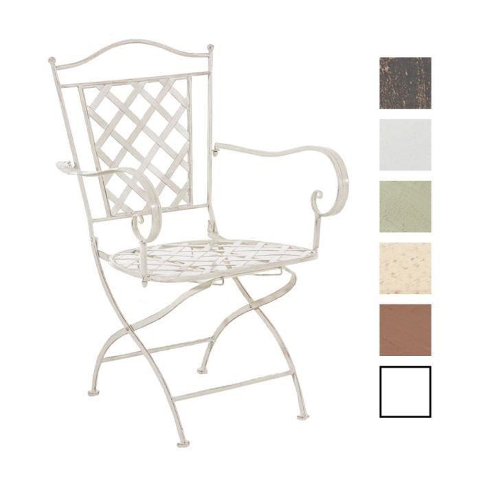 CLP Chaise nostalgique ADARA en fer forgé, chaise pliable, jsuqu'à 6 couleurs au choix