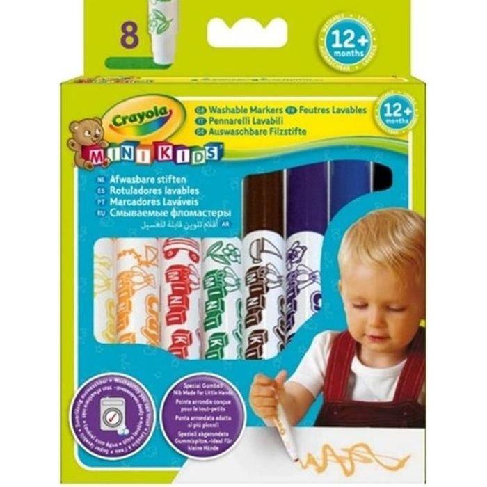 Crayola - Mini Kids - 8 Feutres dès 1 an - Coloriage pour enfant et tout petit