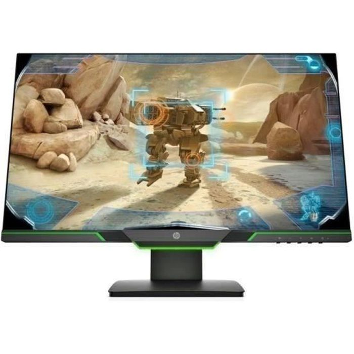 HP Écran PC Gamer 25x - 24.5'' Full HD - Dalle TN - 144 Hz - 1 Ms - AMD FreeSync - 16:9 - Hauteur ajustable - HDMI - DisplayPort