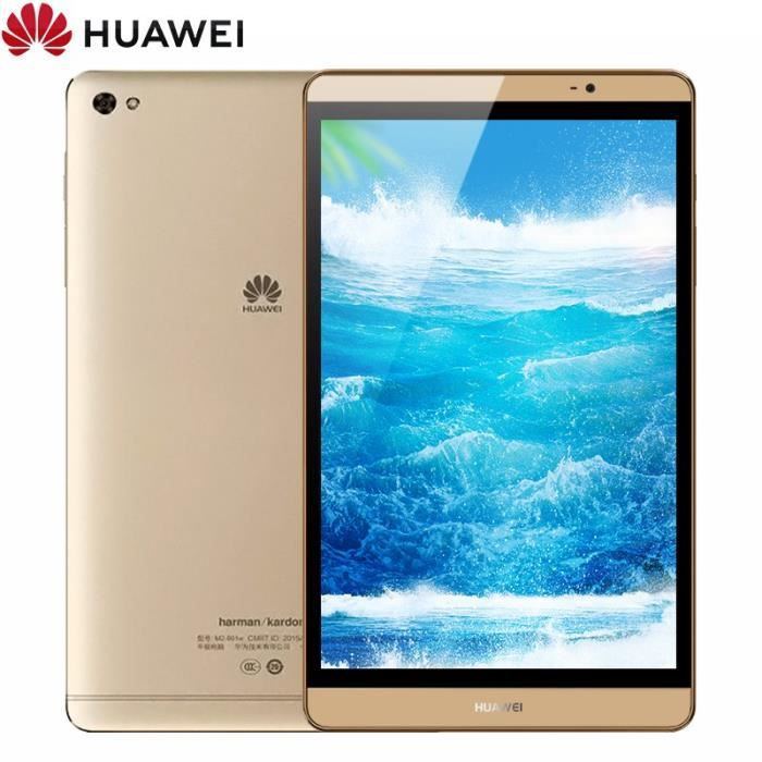 Huawei Mediapad M2 8.0 Tablette Tactile Pc 64 Go + 3 Go 8,0'' Android 5.1 Kirin 930 Octa Core Double caméras, Google Play Store Dore