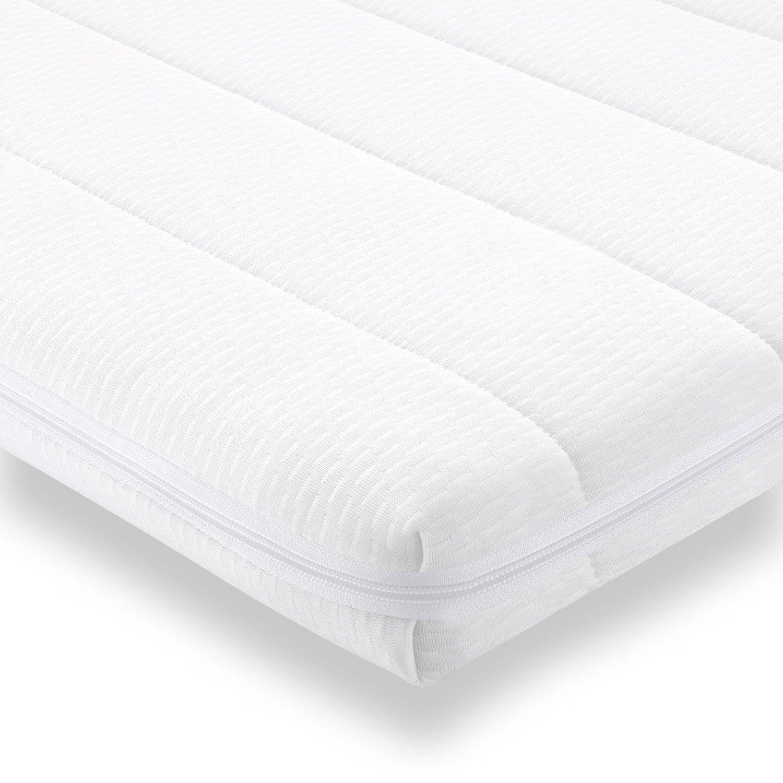 Surmatelas 180x200 cm mousse confort housse microfibre surmatelas ferme et moelleux pour un sommeil réparateur épaisseur 5 cm