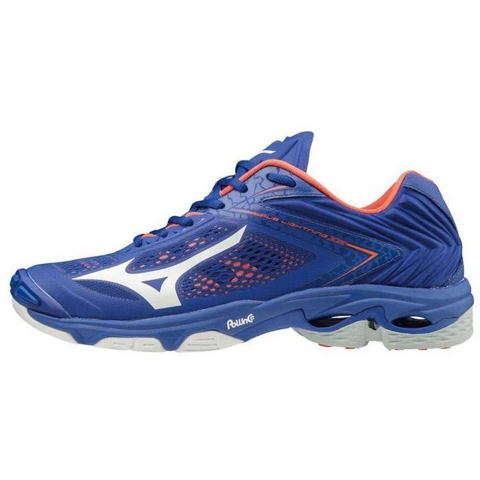 chaussures homme baskets mizuno wave lightning z5. caractéristiques: frappeurs. cuir / synthétique / mesh poids par paire (grammes):