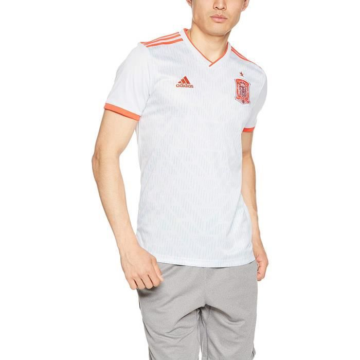 Adidas Maillot Football Espagne Exterieur Blanc Homme