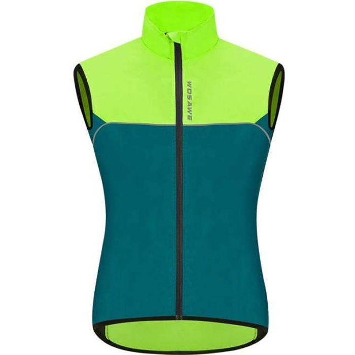 Veste sans Manches Vélo, Respirant VTT Haut Ultra-Léger Coupe-Vent Gilet de Cyclisme pour Homme Femme - Navy