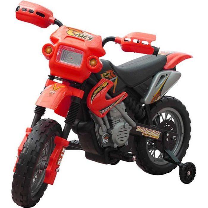 Moto électrique pour enfants Rouge Moto enfant Motocyclette enfant