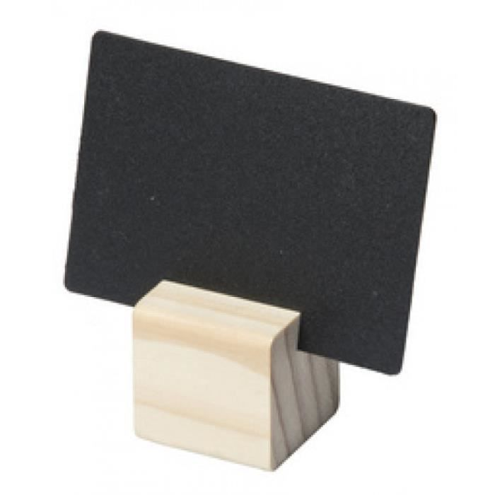 Securit Ardoise + support TEAK, en kit 0,000000 Noir