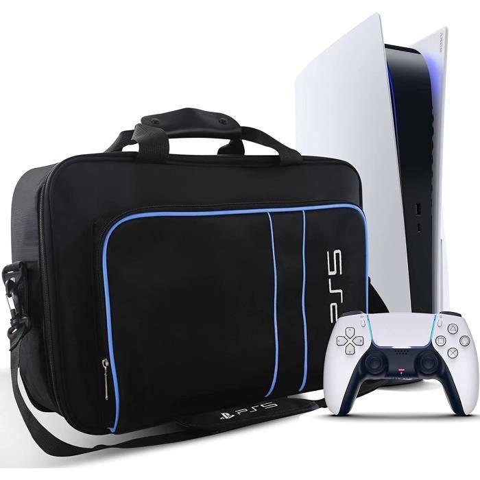 PS5 Sac de Transport, sac d'épaule Sac de Protection pour PS5 Console, Manette et Accessoires pour Sony Playstation 5, Bleu