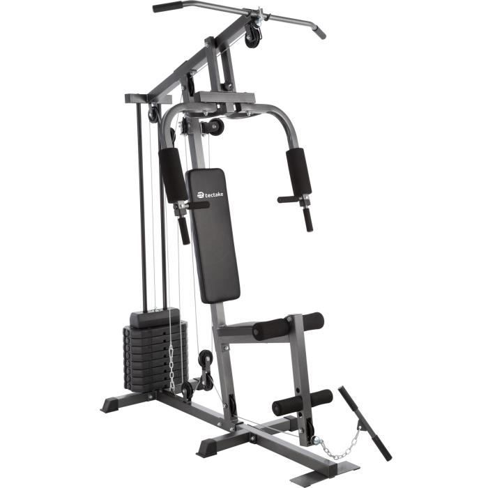 TECTAKE Station de Musculation Appareil Complel à charge modulable - Charge maximale 150 kg