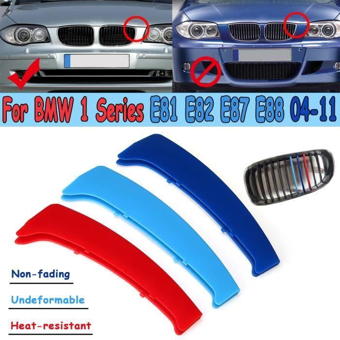 3PCS Clip Couverture Grille Calandre Capuchon Pour BMW Série 1 E81 E82 E87 E88 2004–2011