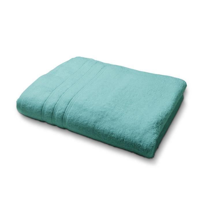 TODAY Drap de bain - 100% coton 500 g/m²- 70 x 130 cm - Vert diabolo menthe TODAY
