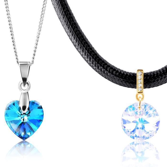 2 colliers ornés de cristal Swarovski ǀ By 2Splend