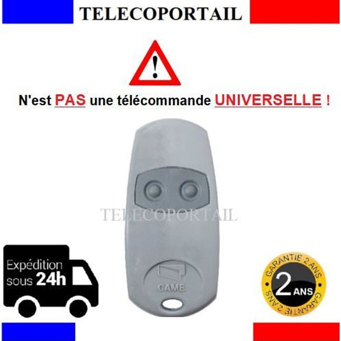 Came TOP-432EV Compatible TOP432EE  TOP432NA Télécommande 433.92 MHz noire