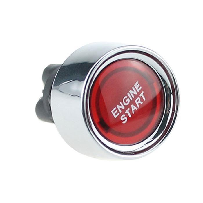 Interrupteur Dallumage De Voiture 12V /Étanche Universel De Voiture Bouton De D/émarrage Commutateur /À Bouton-Poussoir Allumage D/émarreur Silver