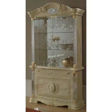 vitrine 2 portes modele betty beige achat vente vitrine argentier vitrine 2 portes modele. Black Bedroom Furniture Sets. Home Design Ideas