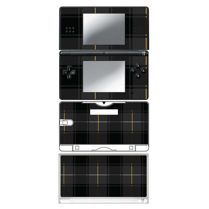 skin stickers pour nintendo ds lite sticker black tartan prix pas cher cdiscount. Black Bedroom Furniture Sets. Home Design Ideas