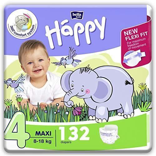 Bella Baby Happy Lot de 156 mini couches avec indicateur durine Taille 2