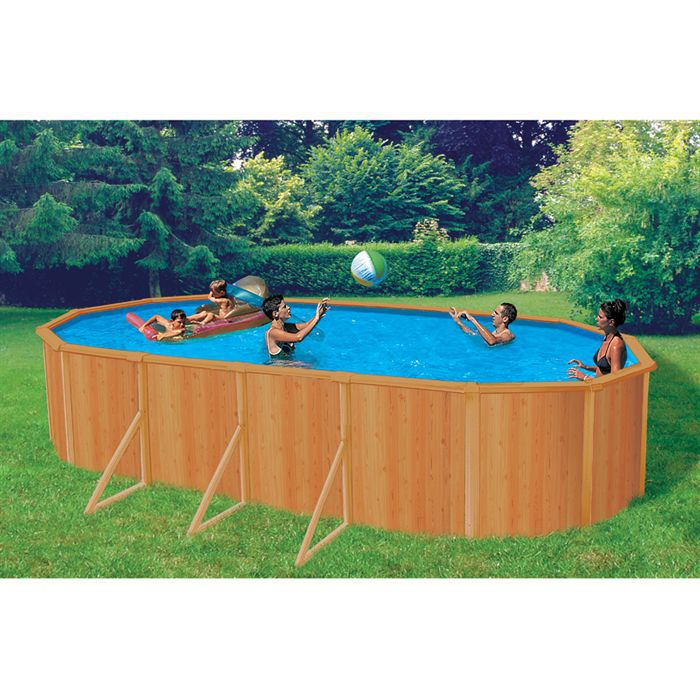 Piscine trigano canyon aspect bois achat for Piscine bois trigano
