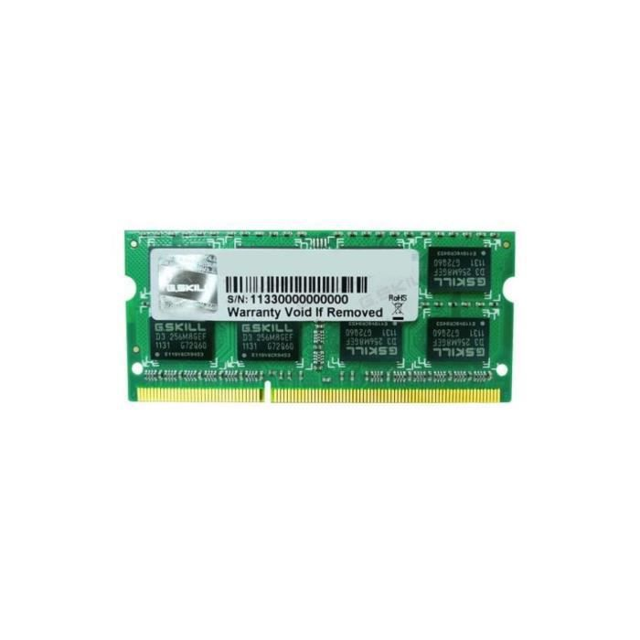 MÉMOIRE RAM G.Skill 4Go DDR3 1333MHz CL9 SO-DIMM