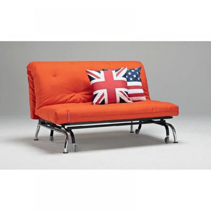 canap lit bz skater orange design convertible 20 achat. Black Bedroom Furniture Sets. Home Design Ideas