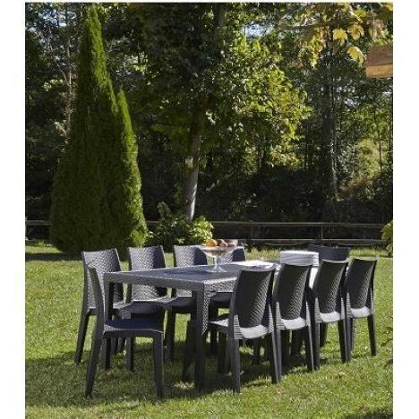 ensemble de jardin queen lady 10 personnes achat vente. Black Bedroom Furniture Sets. Home Design Ideas