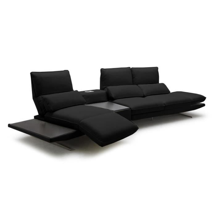 canap cuir modulable galliana avec lecteur mp3 achat vente canap sofa divan les. Black Bedroom Furniture Sets. Home Design Ideas
