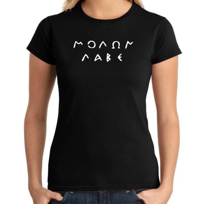 T-Shirt Homme sans Manches Noir TM0694 Molon Labe Original