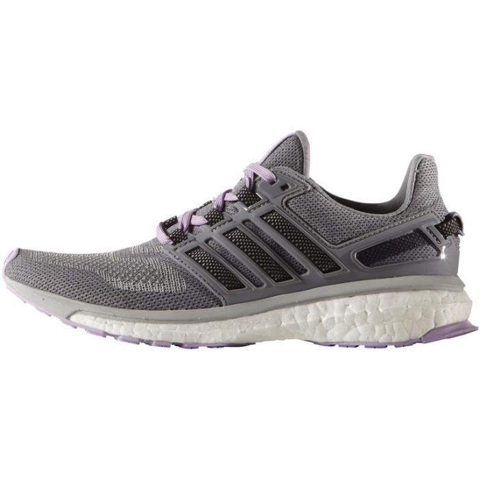 Adidas ENERGY BOOST 3 W Chaussures running fille gris - Prix pas ...