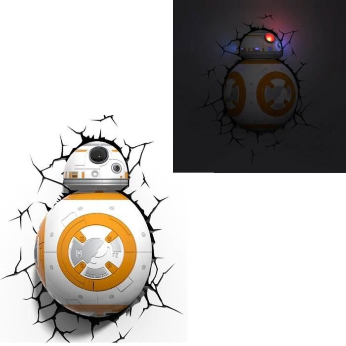 star wars vii lampe d corative 3d bb 8 achat vente applique cdiscount. Black Bedroom Furniture Sets. Home Design Ideas