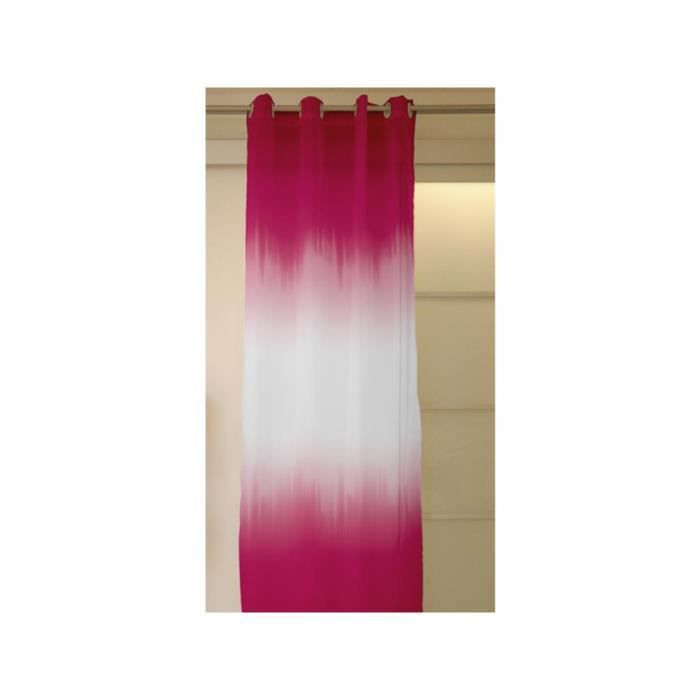 voilage oeillets tie and dye fuschia achat vente rideau cdiscount. Black Bedroom Furniture Sets. Home Design Ideas