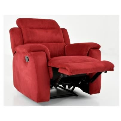 fauteuil relax en microfibre simono rouge achat vente fauteuil beige cdiscount. Black Bedroom Furniture Sets. Home Design Ideas