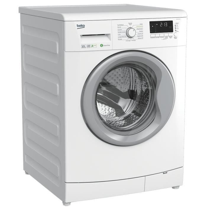 beko wmb101240 lave linge frontal 10kg 1200 tours a moteur induction lave linge. Black Bedroom Furniture Sets. Home Design Ideas