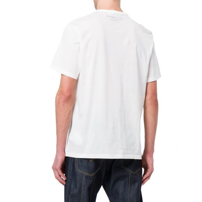 GOLDEN GOOSE HOMME G32MP524A3 BLANC COTON T-SHIRT