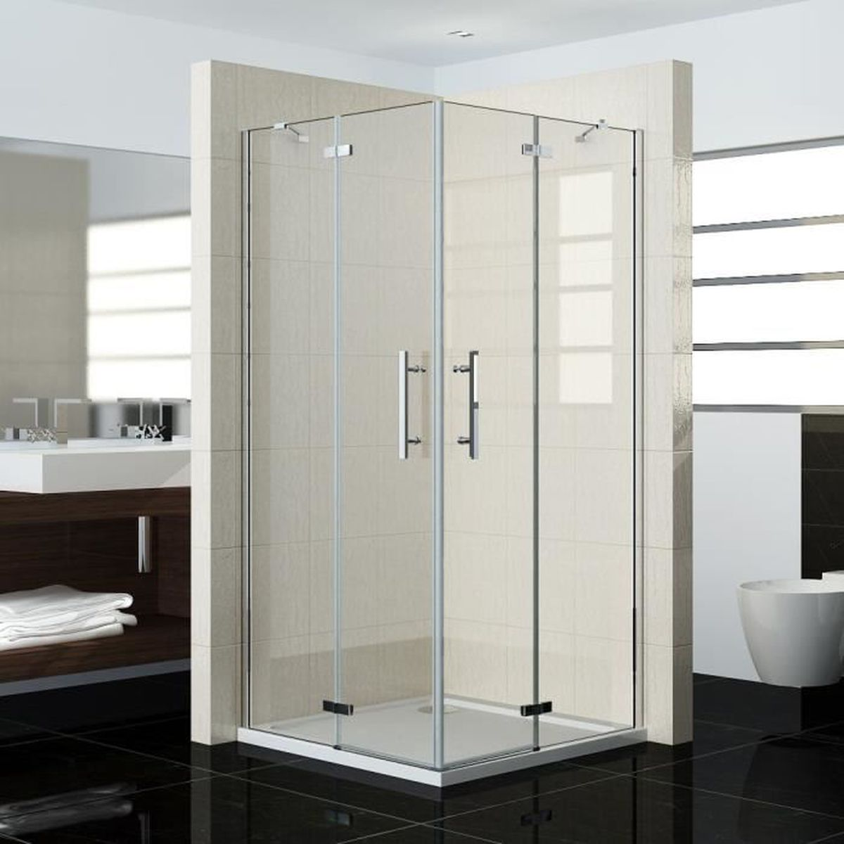 100 80 185cm shower door porte de douche r glable cabine de douche anticalcaire achat. Black Bedroom Furniture Sets. Home Design Ideas