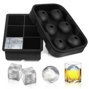 2x Bac à Glaçons Boule en Silicone Moule à Glace Ronde 4x4.5cm Cocktail Whisky
