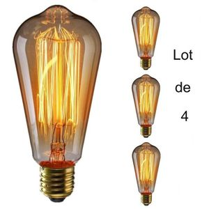 AMPOULE - LED  Marchelec Lot de 4 Ampoules E27 filament incandes