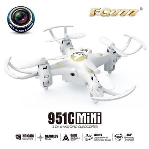 DRONE FQ777 951C 2.4G 4CH 6 axes gyroscopique 0.3MP camé